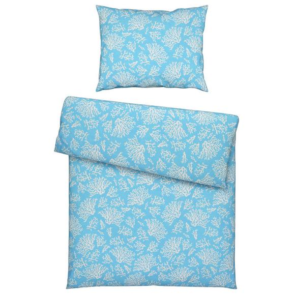 Lenjerie De Pat Koralle - turcoaz/culoare natur, textil (140/200cm) - Modern Living