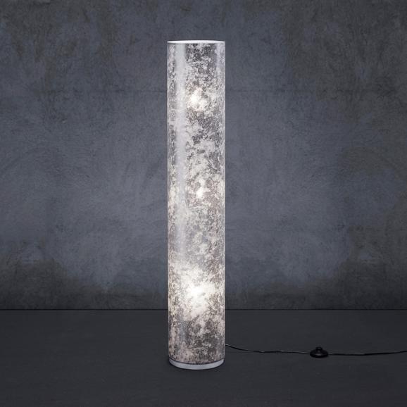 Stehleuchte Emelle - Chromfarben/Nickelfarben, MODERN, Textil/Metall (21/21/120cm) - Modern Living