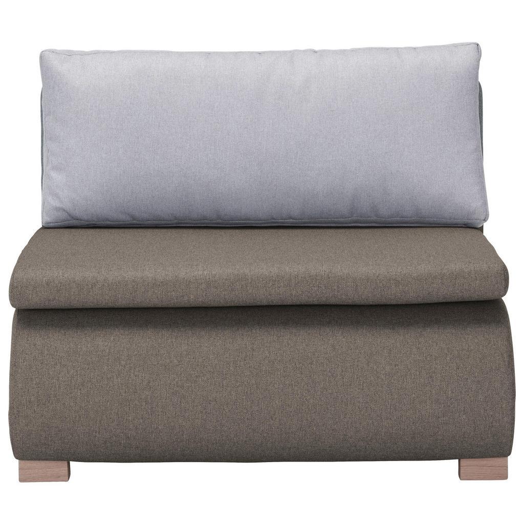 Schlafsessel in Braungrau mit Rückenkissen