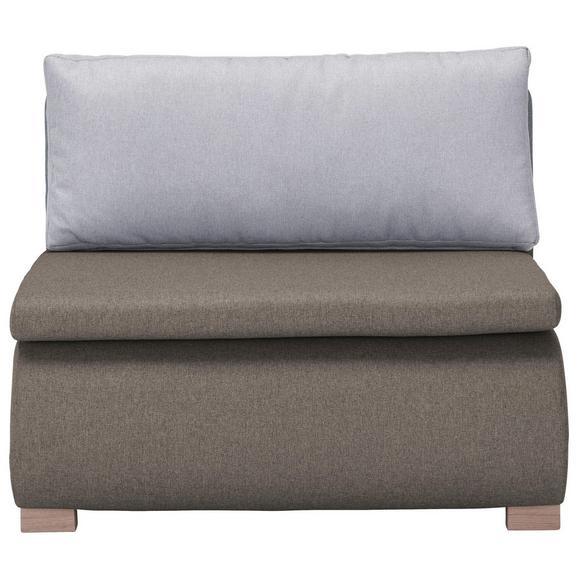 Schlafsessel in Braungrau mit Rückenkissen - Braun/Grau, KONVENTIONELL, Holz/Kunststoff (100/80/100-193cm) - Modern Living