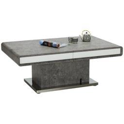 Couchtisch Grau/Weiß - Weiß/Grau, MODERN, Holzwerkstoff/Metall (130-170/50-78,5/80cm) - Premium Living