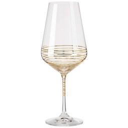 Burgunderglas Elegance ca. 570ml - Klar/Goldfarben, MODERN, Glas (0,57l) - Bohemia