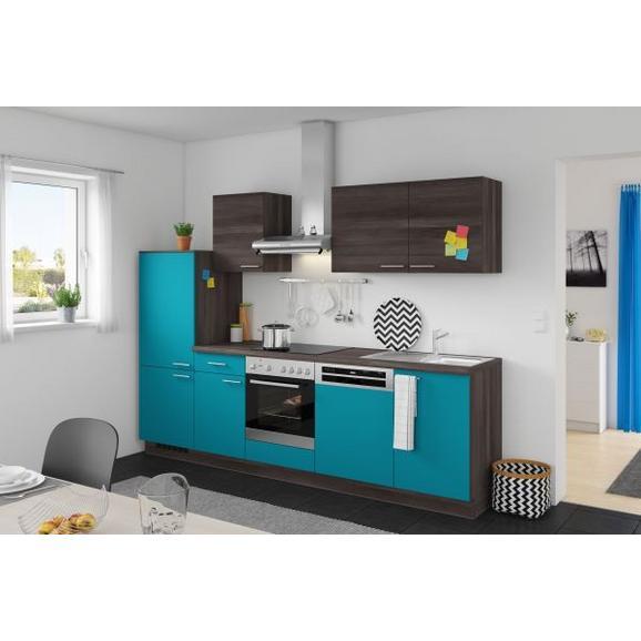 Kuhinjski Blok Win/plan - turkizna/hrast, Moderno, leseni material (280cm) - Express