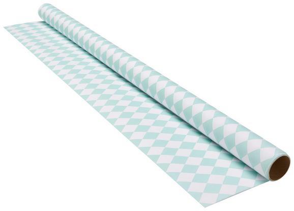 Geschenkpapier Marie Mint/Weiß - Weiß/Mintgrün, Papier (70/200cm) - Mömax modern living