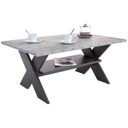 Klubska Mizica Saturn - temno siva/svetlo siva, Moderno, leseni material (110/45/70cm) - Mömax modern living
