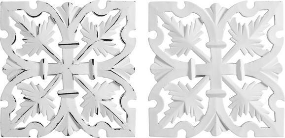Wanddeko Krishna ca. 20/20cm - Weiß, ROMANTIK / LANDHAUS, Holzwerkstoff (20/20cm) - Mömax modern living