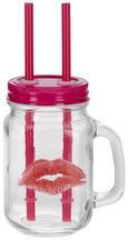 Trinkglas Poppy in Pink - Pink, Glas/Metall (8/11/14,5cm)