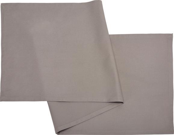 ASZTALI FUTÓ STEFFI - Világosszürke, Textil (45/150cm) - Mömax modern living