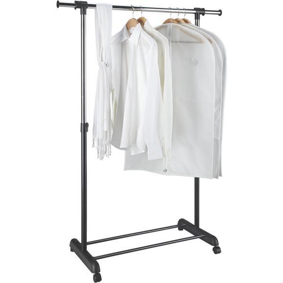 Mobilno Stojalo Za Obleke Mike - črna/srebrna, kovina/umetna masa (85-148,5/95-170/44cm) - Based
