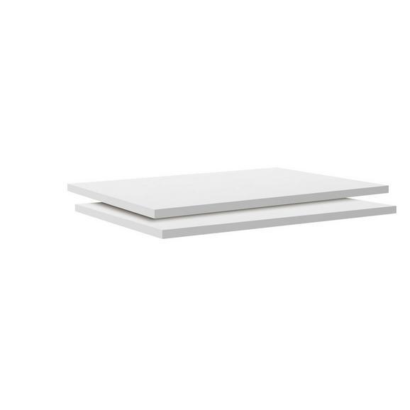 Einlegebodenset in Weiß - Weiß, MODERN, Holzwerkstoff (87,9/1,8/54,4cm) - Based