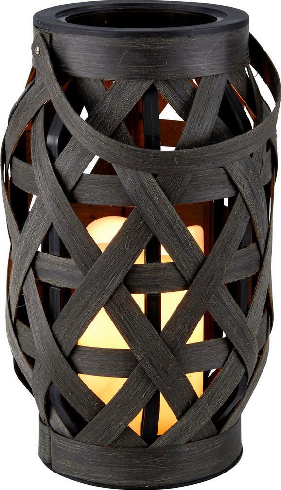 Laterna Caris - črna/siva, umetna masa (14/23cm) - Mömax modern living