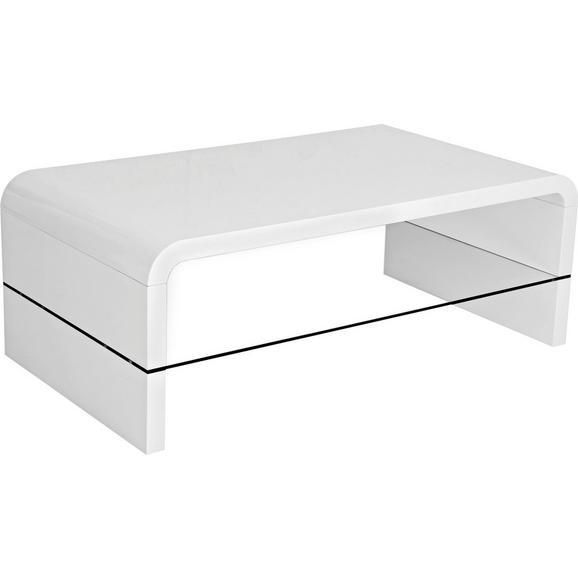 Klubska Miza Glossy - bela/prozorna, Moderno, steklo/leseni material (115/40/60cm) - Mömax modern living
