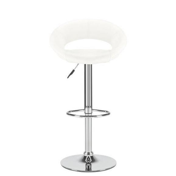 Barski Stol Walker - bela/krom, Trendi, kovina/umetna masa (50/82-103/56cm) - Mömax modern living