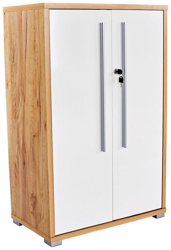 Pisarniška Omara Kraft - hrast/bela, Moderno, leseni material (75/113/35cm) - Mömax modern living