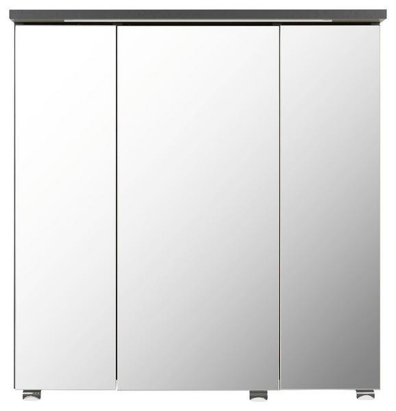 Omara Z Ogledalom Garziello - krom/antracit, Moderno, kovina/steklo (60/63/28cm) - Mömax modern living
