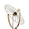 Stehleuchte Nevio max. 60 Watt - Goldfarben, LIFESTYLE, Metall (65/140cm) - Modern Living