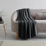 Fleecedecke Anni 130x170 cm - Dunkelgrau, MODERN, Textil (130/170cm) - Modern Living
