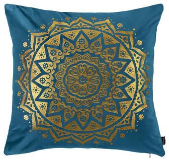 Okrasna Blazina Marokko - petrolej, Trendi, tekstil (45/45cm) - Mömax modern living
