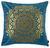 Zierkissen Marokko Petrol/gold - Petrol, LIFESTYLE, Textil (45/45cm) - MÖMAX modern living