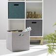 Faltbox Bobby in Silberfarben - Silberfarben, MODERN, Papier/Kunststoff (33/33/32cm) - Mömax modern living