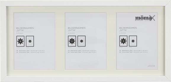 Bilderrahmen Gitta, ca. 23x50cm in Weiß - Weiß, MODERN, Glas/Holz (23/50cm) - MÖMAX modern living