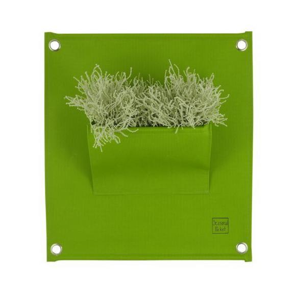 Viseči Shranjevalnik Daisy - zelena, tekstil (40/50cm)