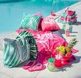 Strandtuch Flamingo Couple 80x160 cm - Pink/Weiß, Textil (80/160cm) - Mömax modern living