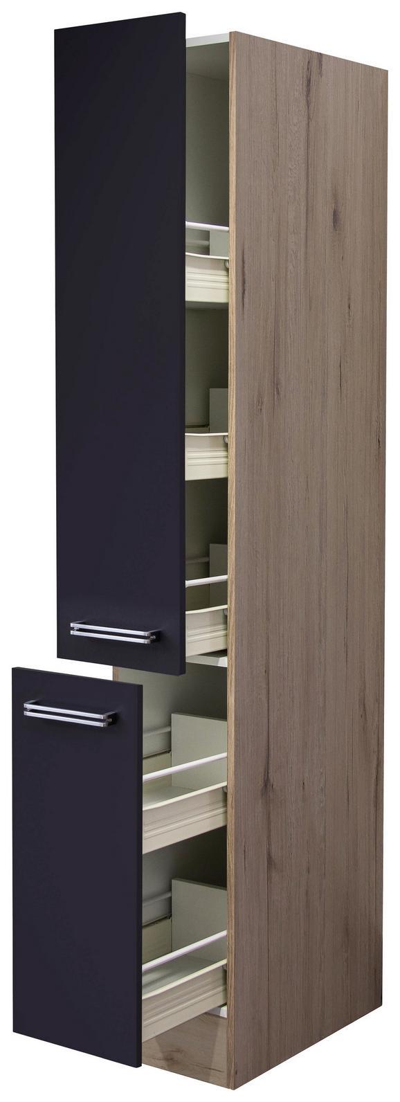 Izvlečna Omara Milano - hrast/antracit, Moderno, kovina/leseni material (30/200/57cm)