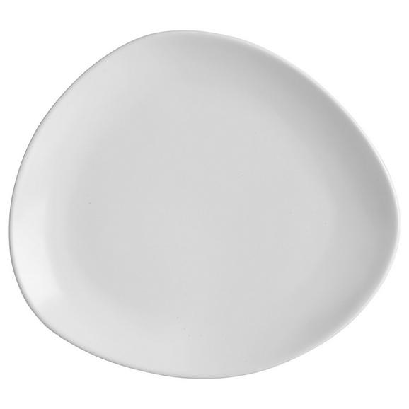 Dessertteller Nele aus Steinzeug in Weiß - Weiß, MODERN, Keramik (21/19/2,3cm) - Premium Living