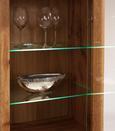 Vitrina Kashmir New - črna/bela, Moderno, steklo/leseni material (57/119/36cm) - Zandiara