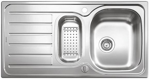 Spüle Blanco aus Edelstahl - Edelstahlfarben, MODERN, Metall (95/50cm)