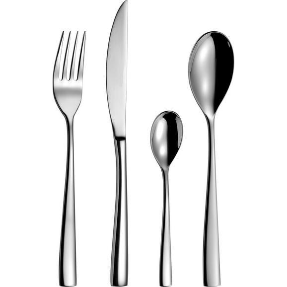 Besteckset Florence aus Metall 24-teilig - Silberfarben, MODERN, Metall - Premium Living