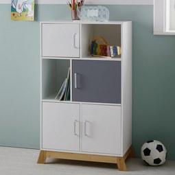 Kinderkommode Brian - Hellgrau/Weiß, MODERN, Holz/Holzwerkstoff (60/103/34cm) - Mömax modern living
