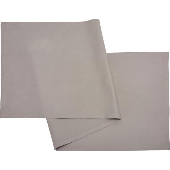Tischläufer Steffi Hellgrau - Hellgrau, Textil (45/150cm) - Mömax modern living