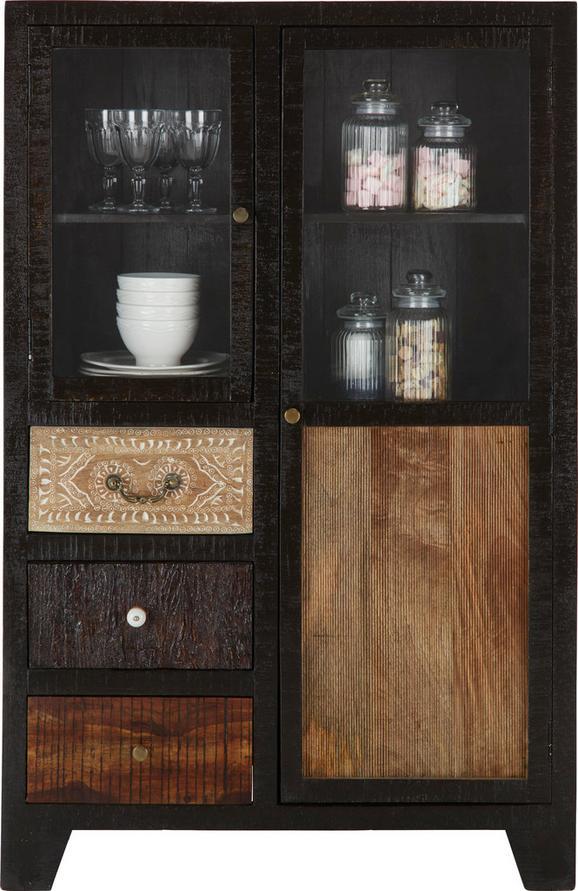Félmagas Szekrény Peru - akác színű, Lifestyle, üveg/fa (95/147/45cm)