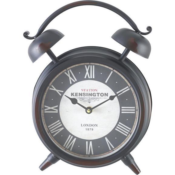 Uhr Kensington ca. 24/32 cm - Schwarz/Weiß, MODERN, Glas/Papier (24/8/32cm) - Bessagi Home