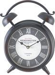 Uhr Kensington ca. 24/32 cm - Schwarz/Weiß, MODERN, Glas/Papier (24/8/32cm) - Mömax modern living
