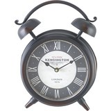 Uhr Kensington in Schwarz ca. 24/32 cm - Schwarz/Weiß, MODERN, Glas/Papier (24/8/32cm) - Bessagi Home