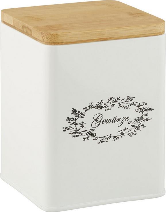 Škatla S Pokrovom Lore - bela, Romantika, kovina/les (11,5/11,5/14cm) - Zandiara