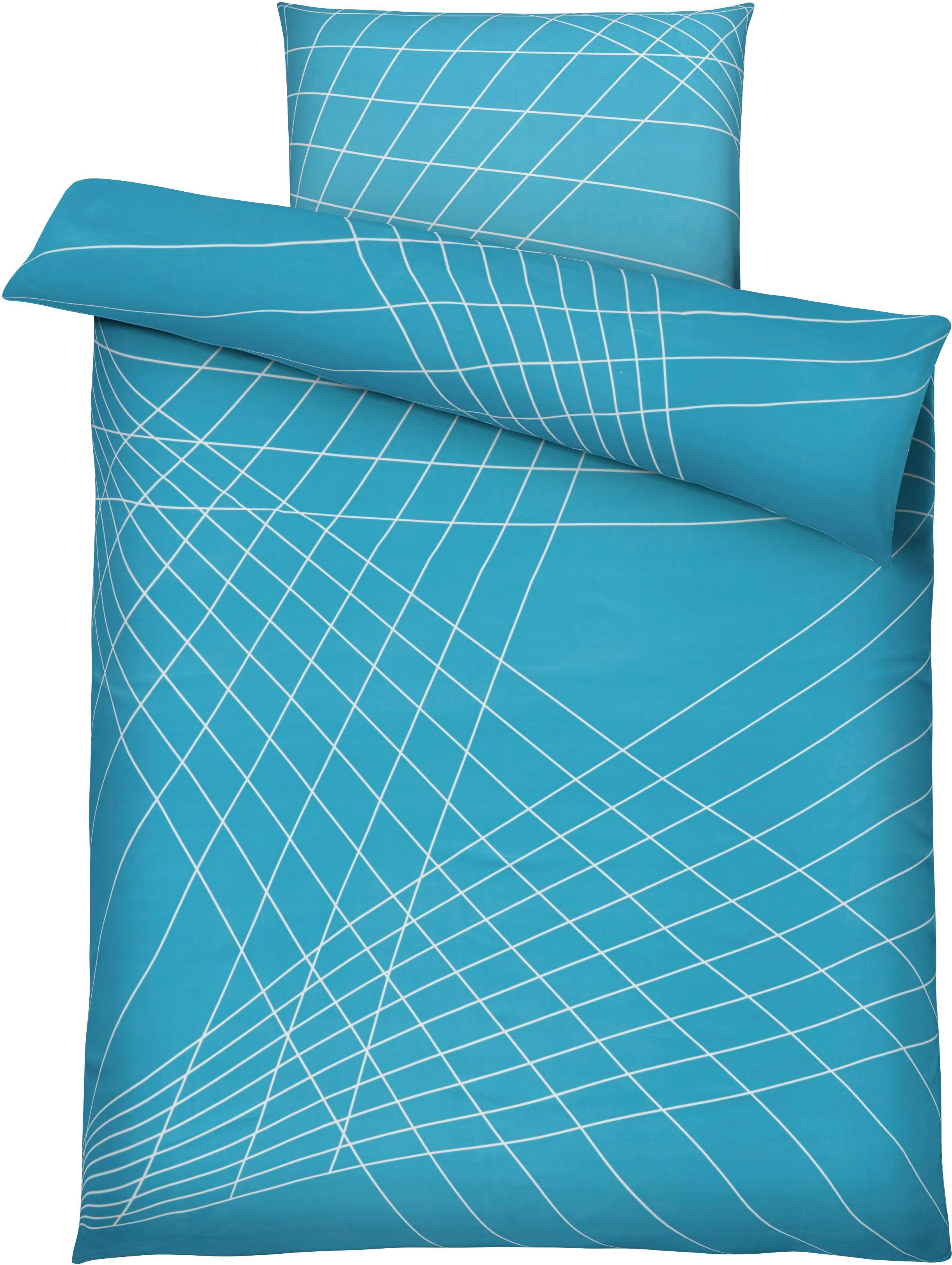 Bettwäsche Spiro in Blau, ca. 135x200cm - Blau, MODERN, Textil - MÖMAX modern living