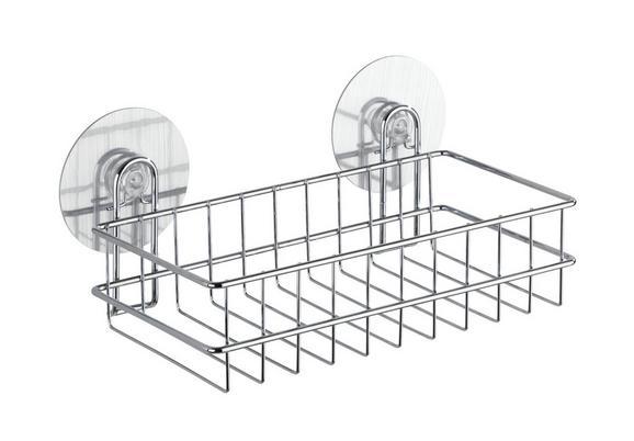 Duschregal aus Stahl - MODERN, Metall (26/9,5/14cm) - MÖMAX modern living