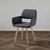 Stuhl Nala - Dunkelgrau/Buchefarben, MODERN, Holz/Textil (55/79/57cm) - Modern Living
