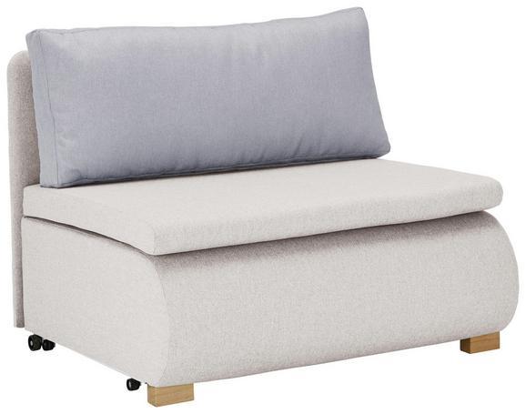 Schlafsessel in Weiß mit Rückenkissen - Weiß, KONVENTIONELL, Holz/Kunststoff (100/80/100-193cm) - Modern Living