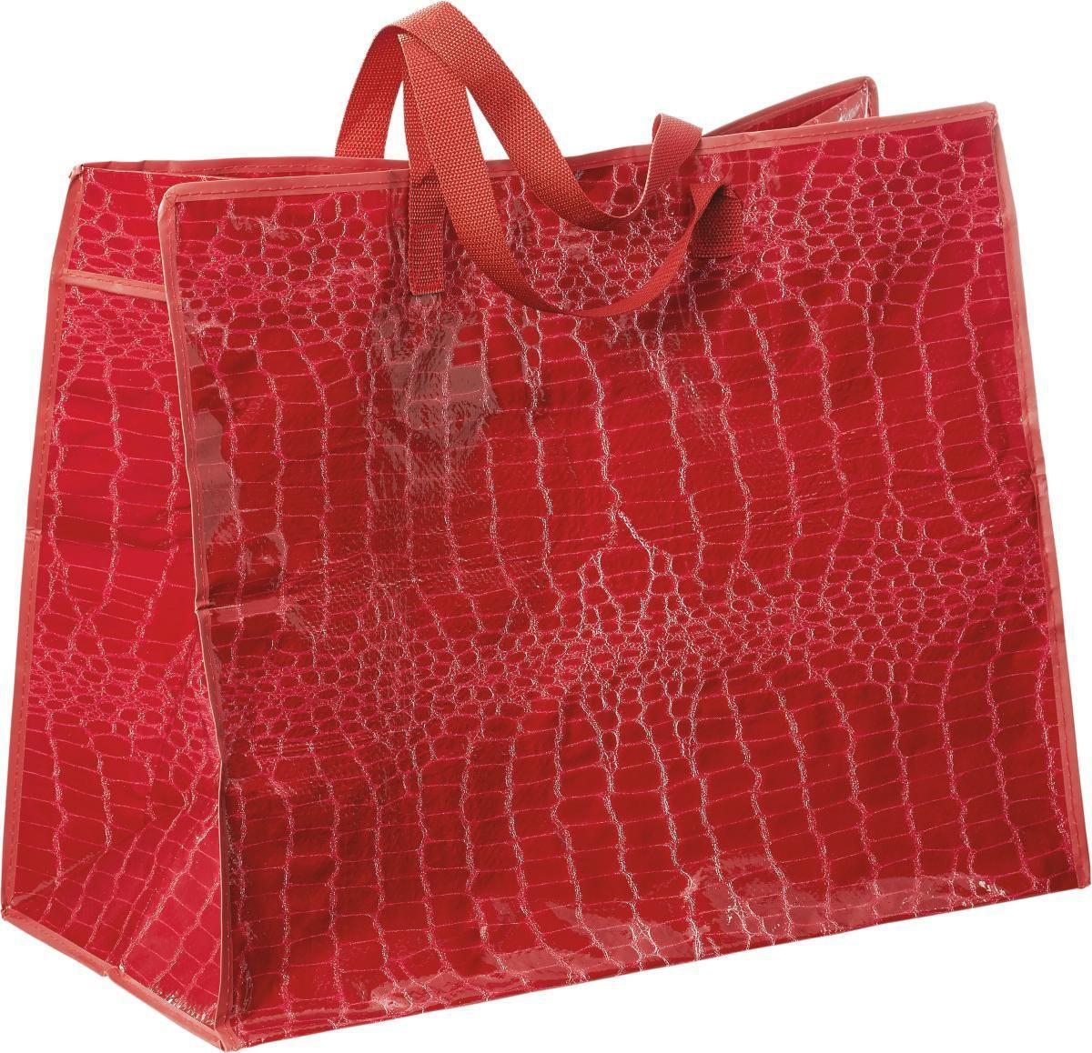 Bevásárlótáska Jenny - piros/szürke, konvencionális, műanyag (60/48/30cm) - MÖMAX modern living