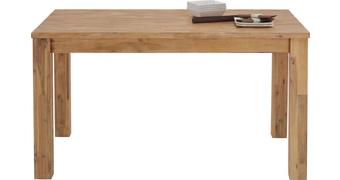 Esstisch aus Akazie Massiv - Akaziefarben, KONVENTIONELL, Holz (140/76/85cm) - Zandiara