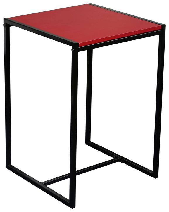 Mizica Bali - rdeča/črna, Moderno, kovina/leseni material (39/58/39cm) - Mömax modern living