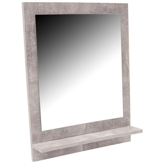 Oglindă Attack - gri deschis, Modern, compozit lemnos (60,4/68/10cm)