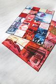 Teppich London - Blau/Rot, Textil (150/100cm) - MÖMAX modern living