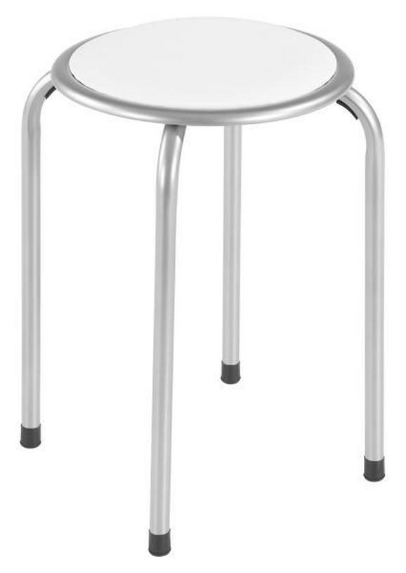 Ülőke Raki - fehér, modern, fém (39/45cm)