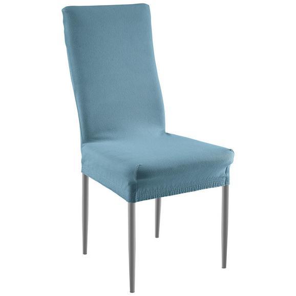 Stuhlhusse Dominik in Blau - Petrol, Textil (48/64/48cm) - Mömax modern living